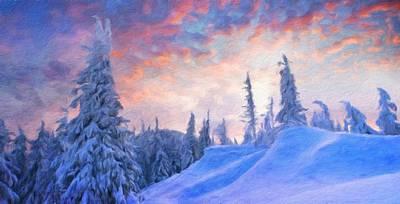Bob Ross Painting - Nature Landscape Wall Art by Margaret J Rocha