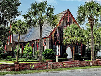 180 Year Old Church Of The Cross In Bluffton South Carolina Art Print