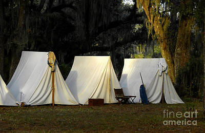 1800s Army Tents Art Print by David Lee Thompson