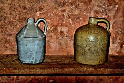 Photograph - 1800s Jugs by Tara Potts