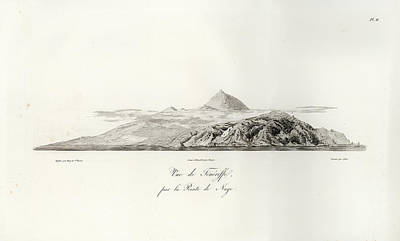 Drawing - 1804 View Of Tenerife by J B Bory de Saint Vincent