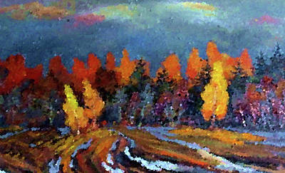 River Painting - Nature New Landscape by Edna Wallen