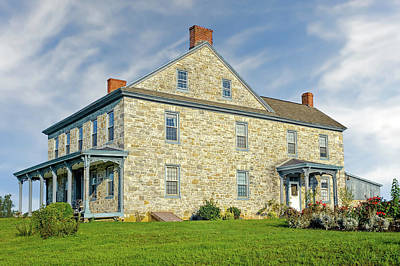 Photograph - 1810 Pennsylvania Stone Farmhouse  -  1810pastonefarmhouse172992 by Frank J Benz