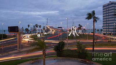 Photograph - 1812 Bridge Roundabout Traffic Lights Cadiz Spain by Pablo Avanzini