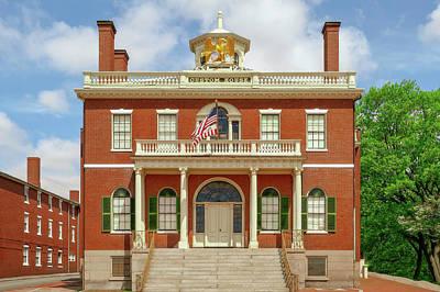 Photograph - 1819 Custom House Salem Ma  -  1819salemmacustomhouse185008 by Frank J Benz