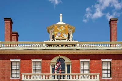 Photograph - 1819 Custom House Upper Floor  -  1819salemcustomhouseupperdetail185031 by Frank J Benz