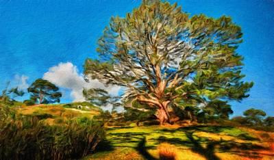 Cloud Painting - Nature Oil Painting Landscape Images by Margaret J Rocha