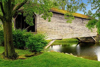 Photograph - 1832 Covered Bridge  -  1832coveredbridge171066 by Frank J Benz