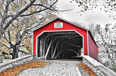 Photograph - 1839 Kreidersville Bridge by DJ Florek