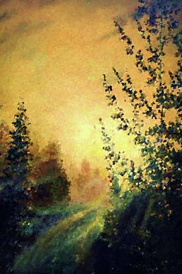 Park Painting - Nature Landscape Paintings by Edna Wallen