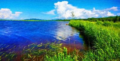 Water Painting - Nature Oil Paintings Landscapes by Margaret J Rocha