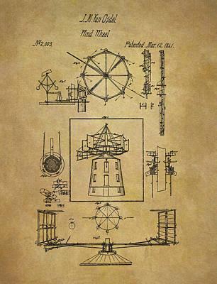 Development Mixed Media - 1841 Wind Wheel Patent by Dan Sproul