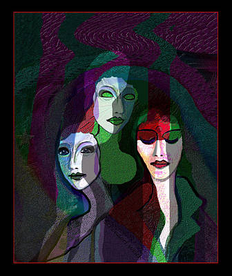 Digital Art - 1844 - Mysterious Women 2017 by Irmgard Schoendorf Welch