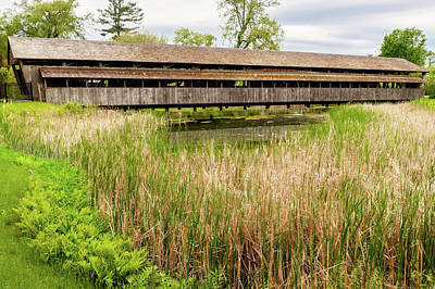 Photograph - 1845 Covered Bridge by Frank J Benz