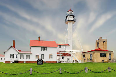 Keepers House Photograph - 1849 Whitefish Point Light Station  -  Whitefishpointlight171442 by Frank J Benz