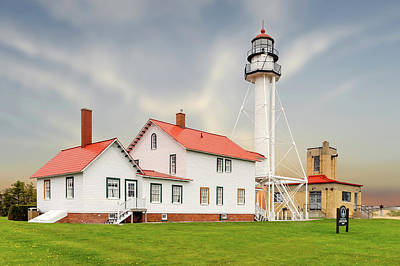 Photograph - 1849 Whitefish Point Light Station  -  Whitefishpointlight171457 by Frank J Benz