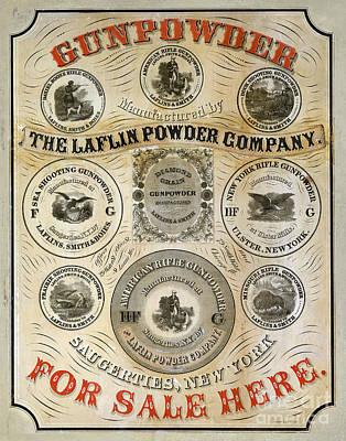 Smith And Wesson Photograph - 1850 Gunpowder Advertisement by Jon Neidert