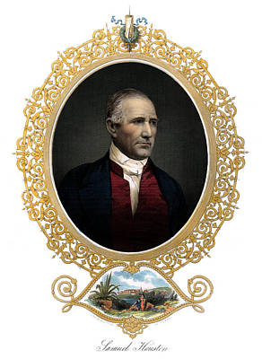 Painting - 1850 Sam Houston  by Historic Image