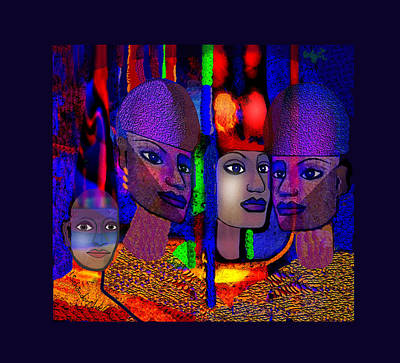 Digital Art - 1852 - Egyptian  Fantasy 2017 by Irmgard Schoendorf Welch