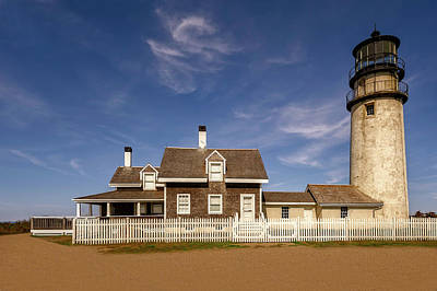 Photograph - 1857 Highland Light Cape Cod  -  1857highlandlighthouse184963 by Frank J Benz
