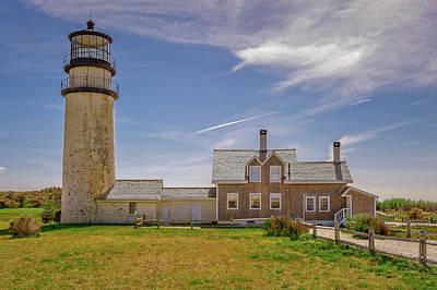 Photograph - 1857 Highland Light Station Cape Cod  -  1857highlandlightcapecod184950 by Frank J Benz