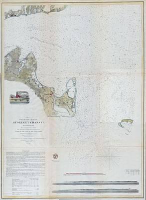 Map Photograph - 1859 Map Of Martha's Vineyard1859 Map Of Martha's Vineyard by Paul Fearn