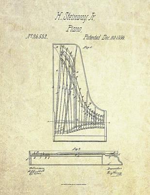 1859 Steinway Piano Patent Art Art Print