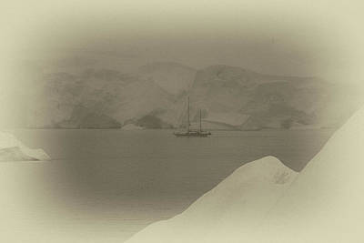 Photograph - 1860s Whaling Ship by John Haldane