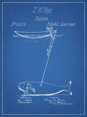 Drawing - 1862 Whaling Harpoon by Dan Sproul