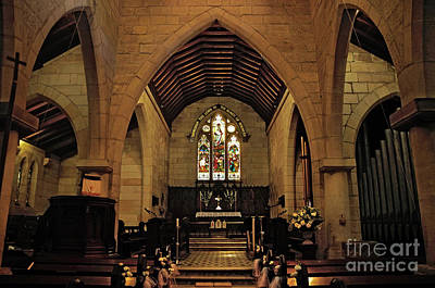 St. Jude Photograph - 1865 - St. Jude's Church  - Interior by Kaye Menner