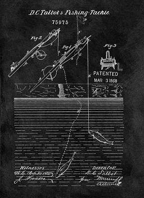 1868 Fishing Rod Patent Art Print