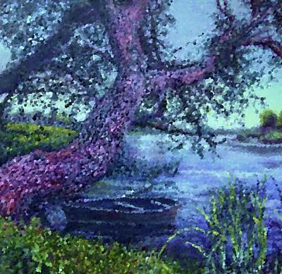 Green Painting - Nature Landscape Wall Art by Edna Wallen