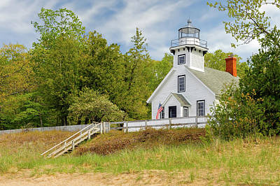 Photograph - 1870 Old Mission Point Lighthouse  -  Missionpointlight171408 by Frank J Benz