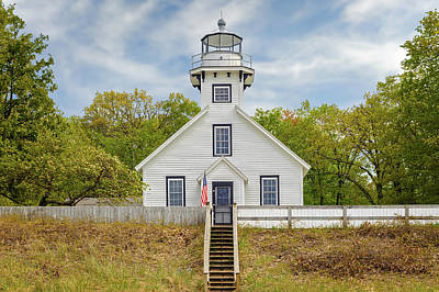 Photograph - 1870 Old Mission Point Lighthouse  -  Missionpointlight171415 by Frank J Benz