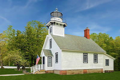 Photograph - 1870 Old Mission Point Lighthouse  -  Missionpointlight171420 by Frank J Benz