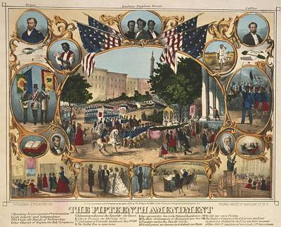 1870 Print Illustrating The Rights Art Print by Everett