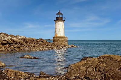 Photograph - 1871 Fort Pickering Light  -  Salem1871fortpickeringlight185101 by Frank J Benz