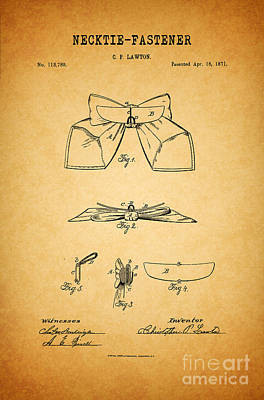 Quirky Drawing - 1871 Necktie Fastener 1 by Nishanth Gopinathan