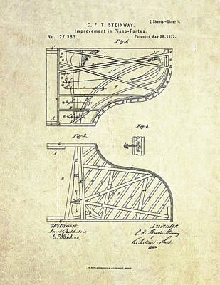1872 Steinway Piano Forte Improvement S. 1 Art Print