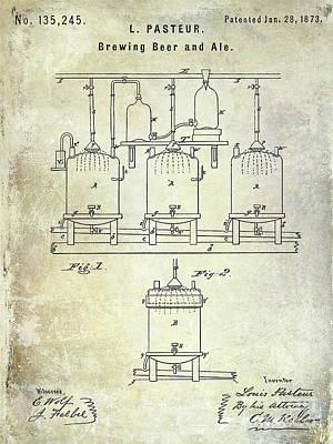 Americana Micro Art Photograph - 1873 Beer Patent by Jon Neidert