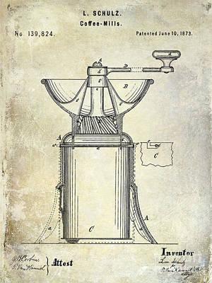 1873 Coffee Mill Patent Art Print