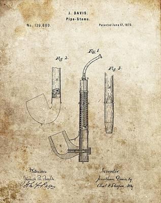 1873 Pipe Patent Art Print