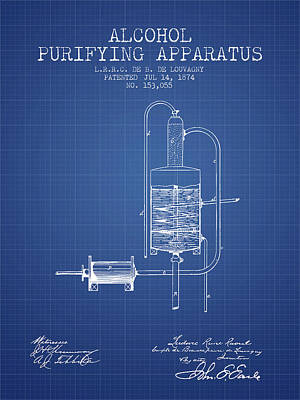 Scottish Digital Art - 1874 Alcohol Purifying Apparatus Patent Fb77_bp by Aged Pixel