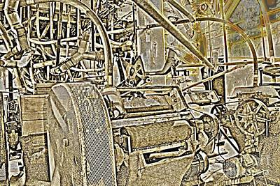 1874 Digital Art - 1874 Hayden Flour Mill Abstract by Natalie Ortiz