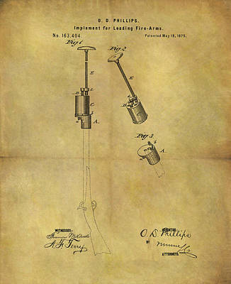 Mixed Media - 1875 Muzzleloader Patent by Dan Sproul