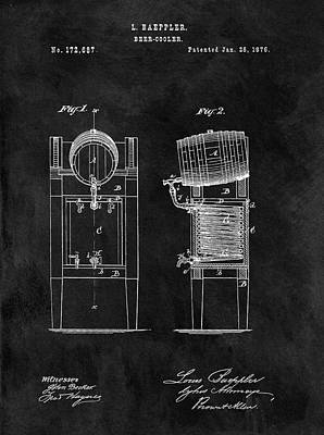 Beer Drawings - 1876 Beer Cooler by Dan Sproul