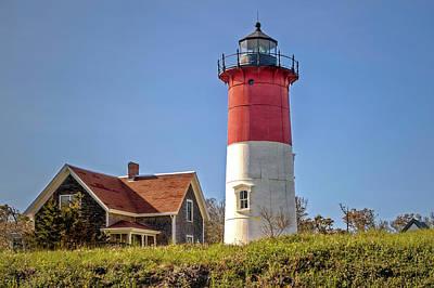 Photograph - 1877 Nauset Light Station Cape Cod  -  1877nausetlighthouse184995 by Frank J Benz