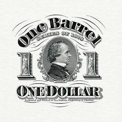 1878 Beer Barrel Tax Stamp Art Print