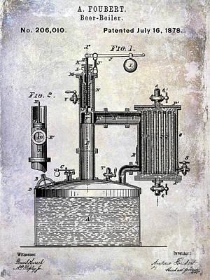 1878 Beer Boiler Patent Art Print