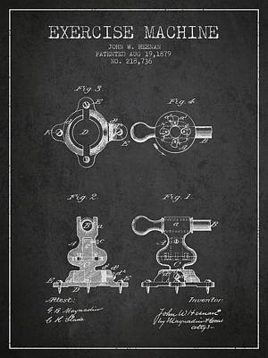 Weightlifting Wall Art - Digital Art - 1879 Exercise Machine Patent Spbb08_cg by Aged Pixel
